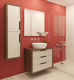 Modern bathroom interior. Royalty Free Stock Photography