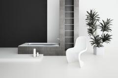 Modern bathroom interior. A 3d rendering of modern bathroom interior Stock Photography