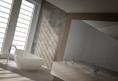 Modern bathroom interior. A 3d rendering of modern bathroom interior Royalty Free Stock Photos