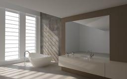 Modern bathroom interior. A 3d rendering of modern bathroom interior Stock Photo