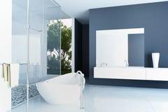 Modern bathroom interior. A 3d rendering of modern bathroom interior Royalty Free Stock Image