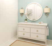 Modern bathroom interior. 3d rendering. Royalty Free Stock Photography