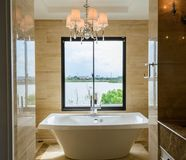 Modern bathroom interior Royalty Free Stock Image