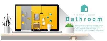 Modern bathroom interior design background Royalty Free Stock Photography