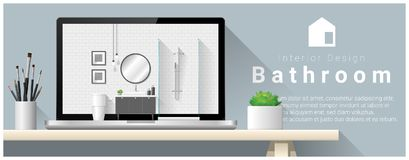 Modern bathroom interior design background Stock Images