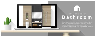 Modern bathroom interior design background Stock Image