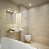 Modern Bathroom Interior Design Royalty Free Stock Image