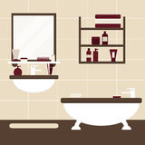 Modern bathroom interior design Royalty Free Stock Photo