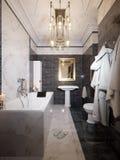 Modern Bathroom Interior Design Stock Photo