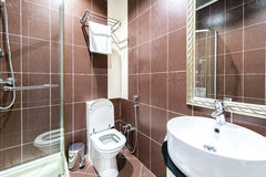 The modern bathroom interior in hotel Stock Photo