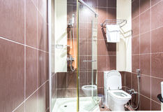 The modern bathroom interior in hotel Stock Photography