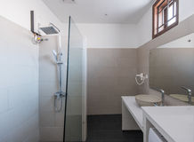 Modern bathroom interior at hotel or home Stock Image