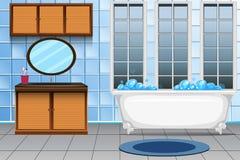 A modern bathroom interior stock illustration