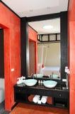 Modern bathroom interior at the luxury villa Stock Photos