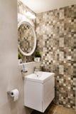 Modern bathroom interior , modern contemporary design Stock Image