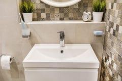 Modern bathroom interior , modern contemporary design Royalty Free Stock Photography