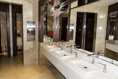 Modern bathroom interior , modern contemporary design stock image
