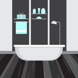 Modern bathroom interior. Vector flat illustration Royalty Free Stock Photos