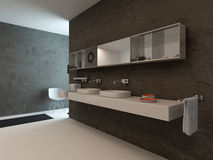 Modern bathroom interior with wash basin Stock Photos