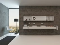 Modern bathroom interior with wash basin Royalty Free Stock Photo