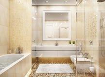 Modern bathroom mosaic interior design royalty free stock images
