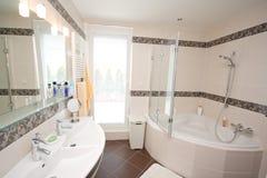 Modern bathroom stock image