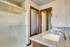 Modern bathroom with separate toilet room. Royalty Free Stock Photo