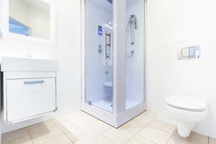 Modern bathroom with shower Royalty Free Stock Photos