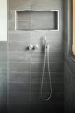 Modern bathroom, shower stock photography