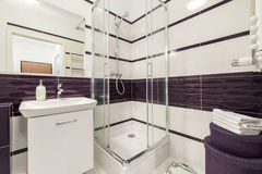 Modern bathroom with  shower cubicle Stock Images
