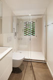 Modern bathroom with shower royalty free stock images