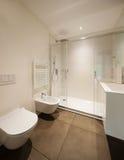 Modern bathroom with shower Stock Photos