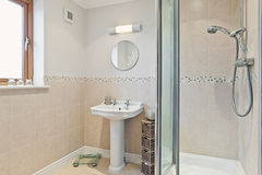 Modern Bathroom with Shower Royalty Free Stock Image