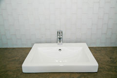 Modern Bathroom Sink Royalty Free Stock Photo