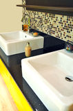 Modern bathroom sink Stock Image