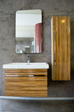 Modern bathroom sink and cabinet Royalty Free Stock Images