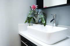 Modern bathroom sink Royalty Free Stock Photography
