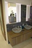 Modern bathroom sinks stock images