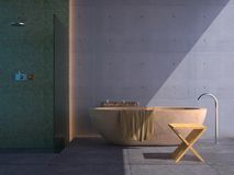 Modern bathroom (sunny) Royalty Free Stock Photography