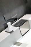 Modern bathroom tap Stock Image