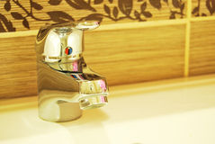 Modern Bathroom Taps Stock Images