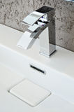 Modern bathroom taps Royalty Free Stock Photo