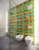 Modern bathroom, toilet and bidet Stock Images