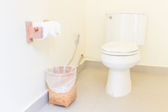Modern bathroom and toilet paper Royalty Free Stock Image