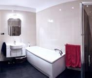 Modern bathroom. A modern bathroom with a tub Stock Photography