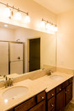 Modern Bathroom with Two Level Vanity Stock Photography