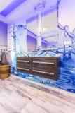 Modern bathroom with unusual tiles Royalty Free Stock Photos