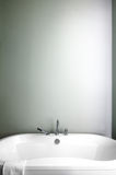 Modern Bathroom using soft Green Pastel Colors Stock Photo