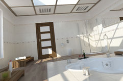 Modern bath room Royalty Free Stock Photos