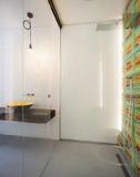 Modern bathroom, wide shower Stock Photography